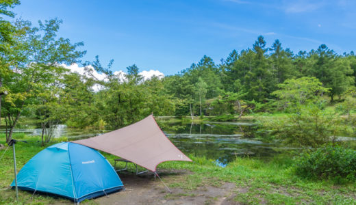 駒出池キャンプ場の魅力をオリジナルサイトマップで紹介